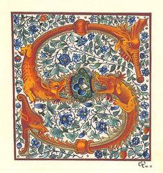 """lettrine """"S"""" ©Claire Travers s'après une gravure noir et blanc du 16ème siècle"""
