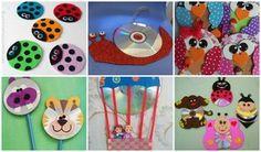 Crafts for Kids Cd Crafts, Fun Crafts For Kids, Activities For Kids, Diy And Crafts, Arts And Crafts, Easy Art Projects, Projects For Kids, Cd Project, Cd Diy