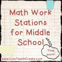 Work Stations that Work- Winter Math Centers Math Work Stations For Middle School - Winter Math Centers for Resource MathMath Work Stations For Middle School - Winter Math Centers for Resource Math Maths Guidés, Math Classroom, Teaching Math, Math Teacher, Math Games, Teaching Ideas, Classroom Ideas, Teacher Stuff, Math Math