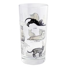Cat Glass Set Of 4 - these are so cute!