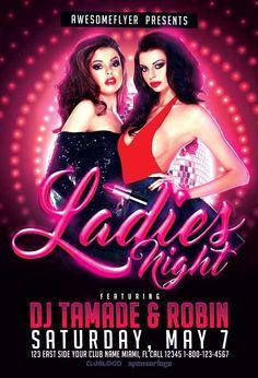 Ladies Night Free Flyer Template - http://ffflyer.com/ladies-night-free-flyer-template/ Enjoy downloading the Ladies Night Free Flyer Template created by Majkol   #Club, #Dj, #Edm, #Girls, #Ladies, #Lady, #Music, #Nightclub, #Party, #Remix, #Sexy