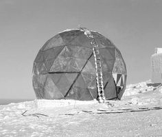 R. Buckminster Fuller and MIT Lincoln Laboratory Prototype for First Rigid Radome 1952