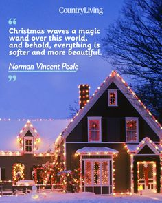"""""""Christmas waves a magic wand over this world, and behold, everything is softer and more beautiful."""""""