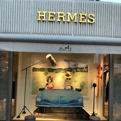 "HERMES, Boulevard de la Croisette, Cannes, France, ""Listen Stephanie.... I couldn't find the sportscar of my dreams, so I build it myself"", pinned by Ton van der Veer"