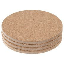 Walmart: Mainstays Cork Coaster, 4-Pack