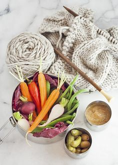 Eat your veggies! - almond butter tahini dip, that can easily be turned into salad dressing