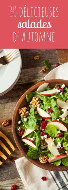30 recettes de salades pour l'automne ! Plus