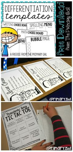 Differentiation can often be overwhelming, but not with these templates!