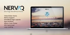 Nervaq - Responsive One Page WordPress Theme - WordpressThemeDB