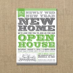 We've Moved Open House Housewarming Invitation by PerchedOwl, $14.00