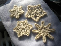 Don't let crocheters have all the fun… knit up your own flurry of snowflakes!