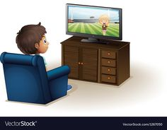 A young boy watching a television vector image on VectorStock Autism Activities, Montessori Activities, Activities For Kids, Learn Arabic Online, Owl Clip Art, Flashcards For Kids, Islamic Cartoon, Boys Watches, Homeschooling