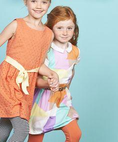 Pastel Spring Geometric Dress - Toddler & Girls | zulily