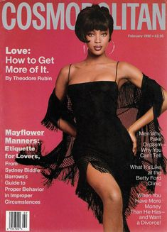 25 Cosmo Covers You've Never Seen Before Naomi Campbell, February Glamour Magazine Fashion Magazine Cover, Fashion Cover, 90s Fashion, Magazine Covers, Vintage Fashion, Helen Gurley Brown, Dark Man, Cosmo Girl, Black Magazine