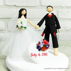 Ju - Jitsu GI custom wedding cake topper Decoration Gift Keepsake. $190.00, via Etsy.