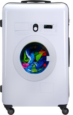 SuitSuit Shop: Washing Machine. It's a suitcase AND a washing machine in one!