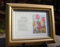 ZERO SHIPPING Gold Framed Pair of Cicely M. by RusticWayLane