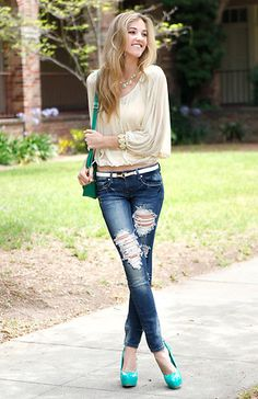 Get Her To The Green Look By Machine Jeans and Glaze | DAILYLOOK