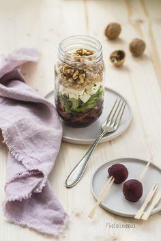 einfach und lecker - Rote-Beete-Salat mit Fetakäse aus dem Glas [Werbung]