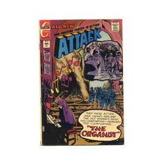Vintage Charlton Comic Book 1972 Attack The by SunStateVintage