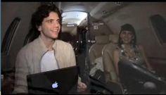 Mika and Yasmine Penniman on a plane