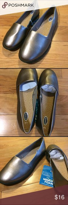 Dr. Scholl's Memory Foam Flats NWT- Dr. Scholl's memory foam, all day comfort, metallic flats! Super cute & versatile with styles.  A little piece of heaven for your feet! Dr. Scholl's Shoes Flats & Loafers
