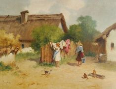 Hungary, Painting, Art, Beautiful Landscapes, Etchings, Art Background, Painting Art, Kunst, Paintings