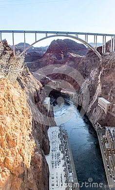 The Hoover Dam is situated on the Colorado river on the Arizona, Nevada Border…