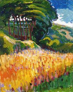 Trees on a Hillside, Emily Carr, oil Lavalin Collection of the Musée d'art contemporain de Montréal, A 92 939 P 1 Canadian Painters, Canadian Artists, Post Impressionism, Impressionist Art, Landscape Art, Landscape Paintings, Landscapes, Emily Carr Paintings, Group Of Seven Paintings