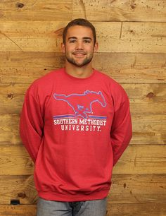 Hey Mustangs, check out this cozy SMU sweatshirt! Perfect for all occasions to root on Southern Methodist University!