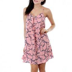 Printed X-Back Dress