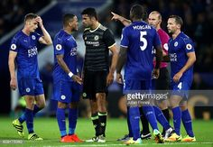 News Photo : Diego Costa of Chelsea and Danny Simpson of...