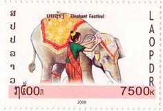Using images from ElefantAsia's Elephant Festival, you don't have to be a fan of stamp collecting to still appreciate these beautiful pieces of artwork. You can also download a PDF image of all the stamps below. Enjoy!