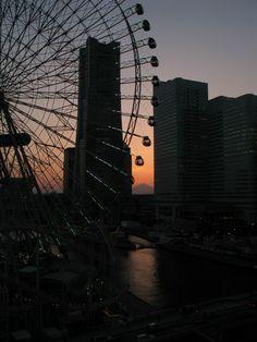 みなとみらい サンセット 夕焼け 横浜 コスモクロック コスモワールド 富士山 ランドマークタワー sunset