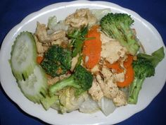 Garlic Stir Fried Meat With Broccoli Carrot And Sauce Vegetables Awesome Thai Food Forked