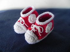 Baby High Top Booties Red by mccdingbat on Etsy, $18.00