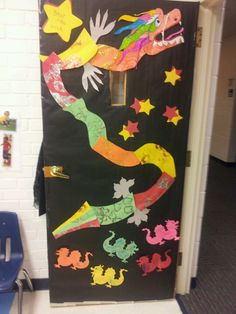 Classroom door Chinese new year