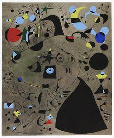 Joan Miró, 'Constellations, André Breton, Pierre Matisse, New York' Night Painting, Art Institutes, Modern Art, Hanging Art, Art, Art Institute Of Chicago, Lithograph, Joan Miro, Institute Of Contemporary Art