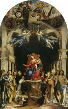 Lorenzo Lotto - Colleoni Martinengo altarpiece
