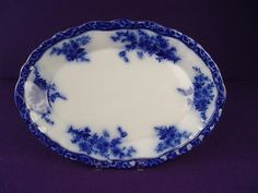 Excellent Victoria Ware Ironstone Flow Blue Large Serving Platter | eBay  This is reproduction of Flow Blue...BEWARE  !