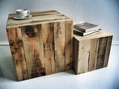 Pallet side tables!