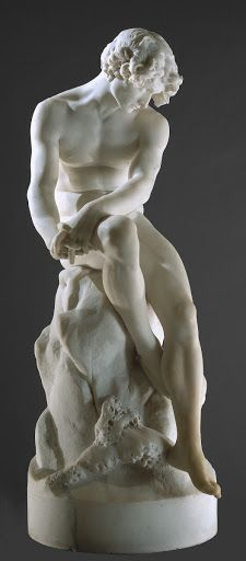 'The Exile' Marble Sculpture by Antonio Soares dos Reis - Considered One of The Greatest Portugese Sculptors of The Century - The Fuller View Rodin, Carpeaux, Greek Statues, Angel Statues, Art Sculpture, Metal Sculptures, Abstract Sculpture, Bronze Sculpture, Classical Art
