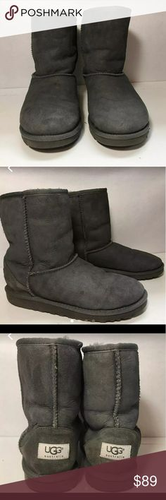 UGG Boots Gray UGG Classic short UGG boots are in excellent condition. No damage, holes or stains. More pics to come. UGG Shoes Ankle Boots & Booties
