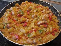 Kartoffel - Puten - Pfanne mit Paprika, ein tolles Rezept aus der Kategorie Wok. Bewertungen: 16. Durchschnitt: Ø 3,8.
