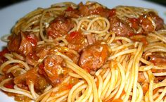 Filipino Pinoy Spaghetti with Sweet Longganisa Recipe