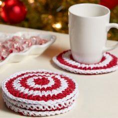 Premier+Yarns+Home+Cotton+Crochet+Peppermint+Coasters