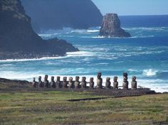 Easter Island...fly west across the Pacific from Chile and discover the moais waiting for you