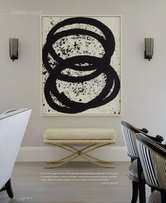 Etching by Richard Serra. Interior design by Candace Cavanaugh. From Interiors Digital, June/July 2012.