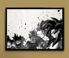 Watercolor Dragon Ball Goku SSJ4 Print 8x10 Archival by ColorInk, $20.00
