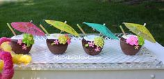 """Let's Party!!  Coconut """"Drink"""" Cakes~A Blog Tutorial"""